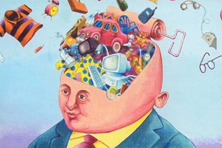 A confusão da mente consciente, da memória